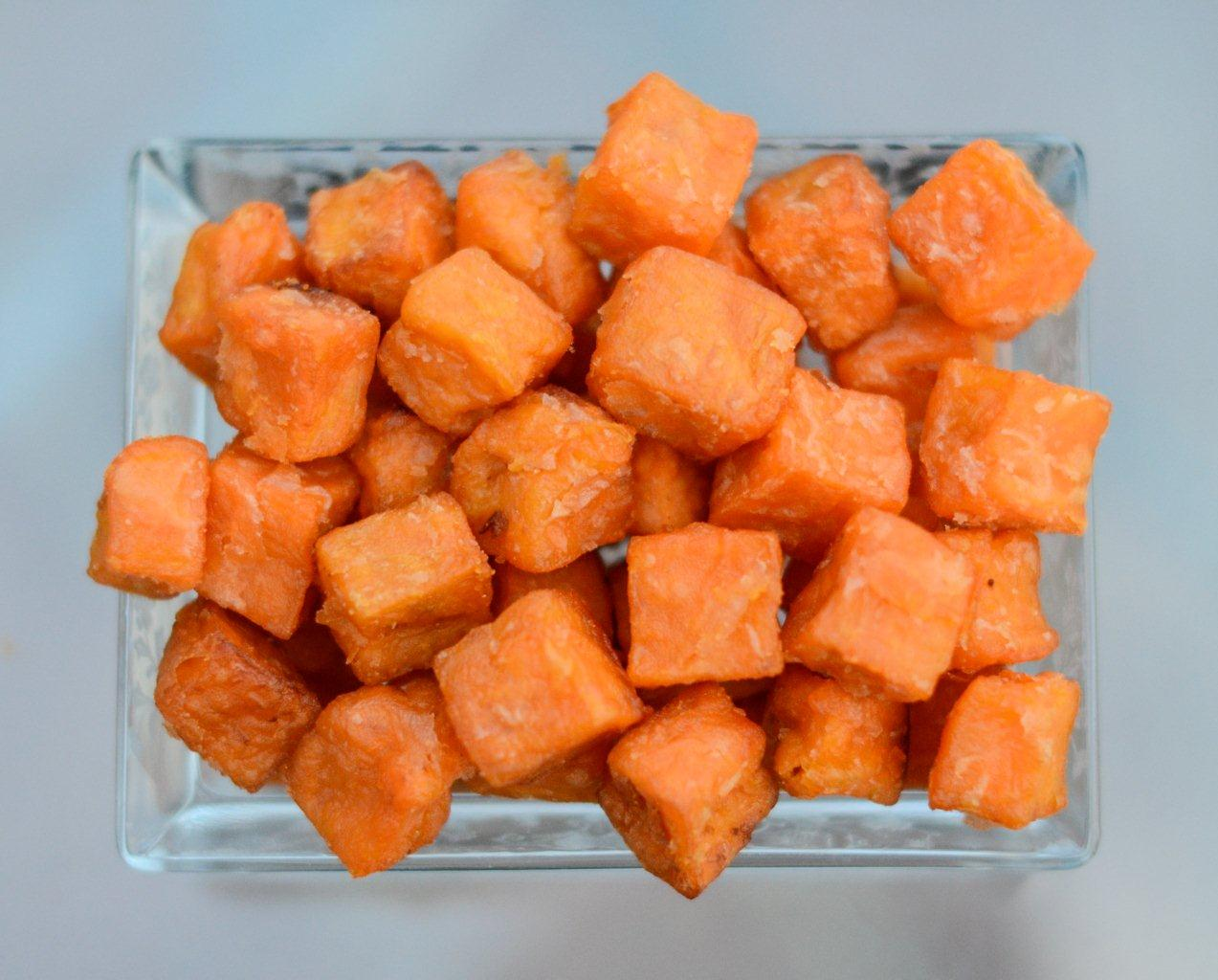 sweet potato fries diced