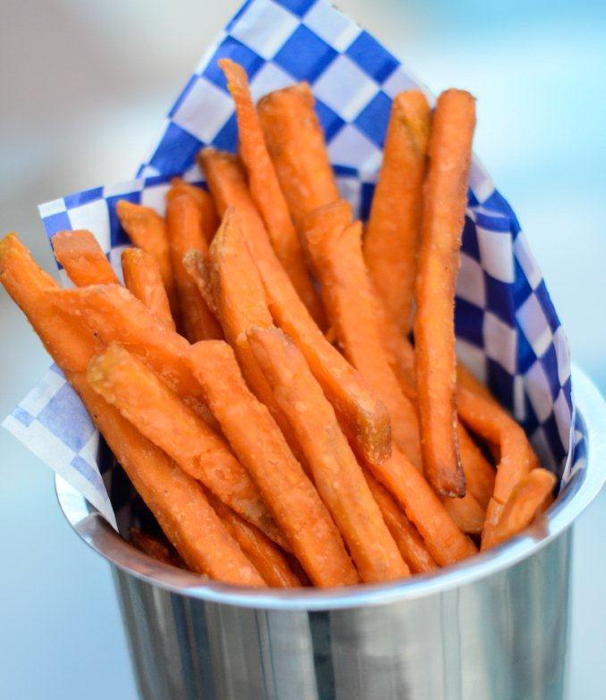sweet potato fries straight cut